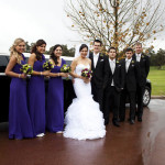 wedding, sandalford estate, limo
